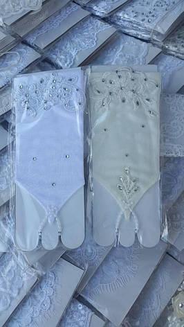 Детские короткие перчатки под бальное вечернее платье для утренника., фото 2