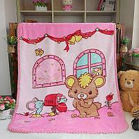 Покрывало детское розовое для девочки