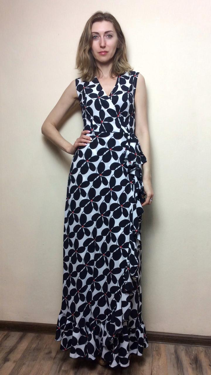 53c96e47db5 ... фото 2 · Шифоновое платье в пол на запах с рюшей П236