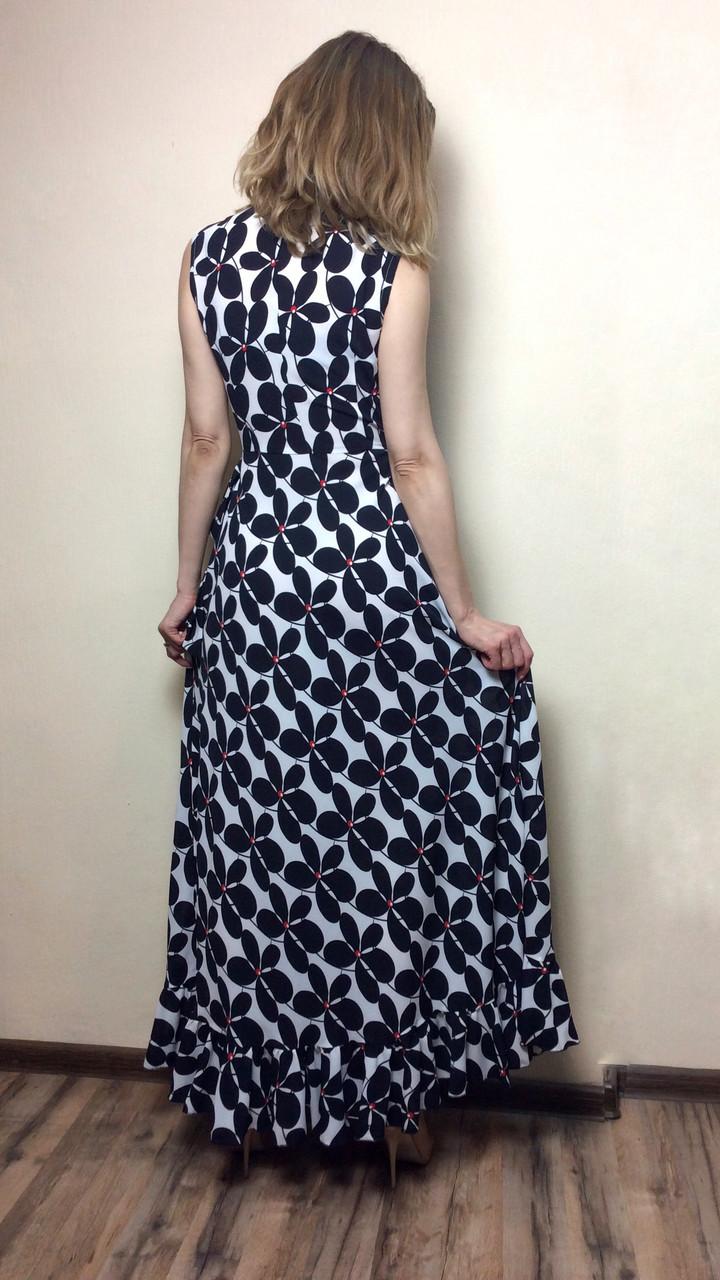 fc442cb41c3 Шифоновое платье в пол на запах с рюшей П236  продажа