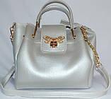Женские сумки брендовые 2-в-1(бронза)25*25, фото 4