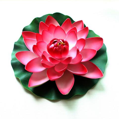 Плавающая декоративная лилия AquaFall диаметр 30 см красная