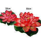 Плавающая декоративная лилия AquaFall диаметр 30 см красная, фото 4