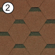 Битумная черепица Roofshield Стандарт №2 Коричневый с оттенением