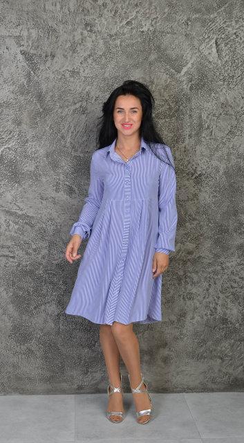 Стильная летняя рубашка-платье
