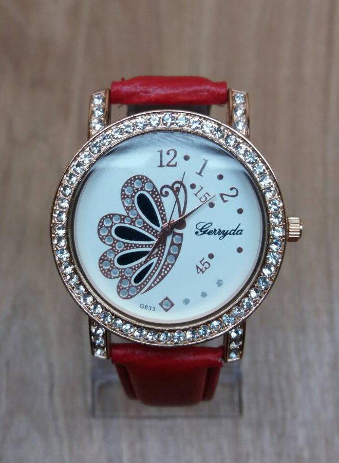 Часы наручные женские Shelley red