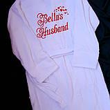 Жіночий махровий халат іменний, фото 3