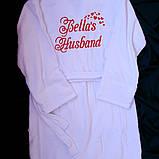 Жіночий махровий халат іменний, фото 2