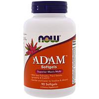 Адам Витамины для мужчин 90 гелевых капс мужские мультивитамины NOW Foods USA