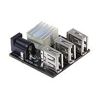 Понижуючий DC / DC стабілізатор з 5.6-14В до 5В 3А 3xUSB