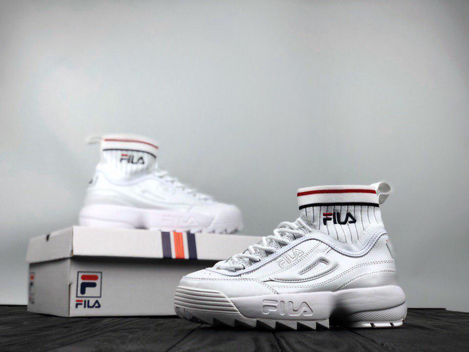 ... Женские кроссовки FILA Fila Disruptor II EVO Sock фила белые, ... 4f435ebf0ff