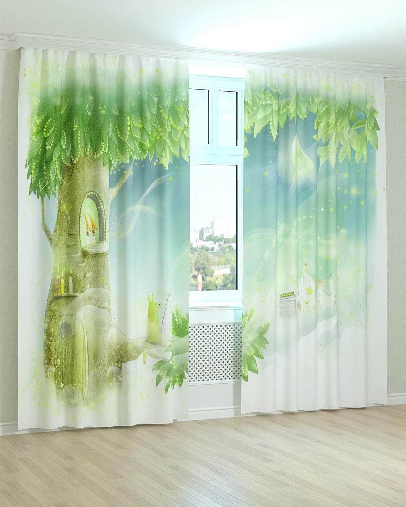 Фотошторы сказочное дерево 3D