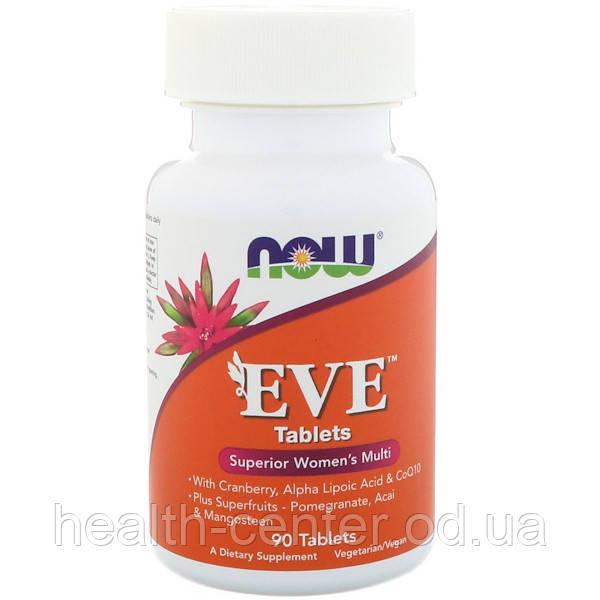 Ева Витамины для женщин 90 таб женские мультивитамины Now Foods USA