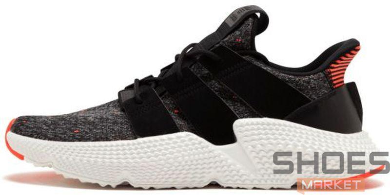45a683a6 Женские кроссовки Adidas Prophere (Core Black / Core Black / Solar Red)
