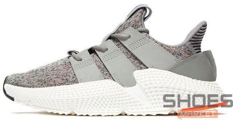 Женские кроссовки Adidas Prophere Grey Three/Ftwr White/Solar Red