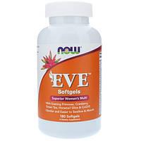 Ева Витамины для женщин 180 гелевых капс женские мультивитамины Now Foods USA