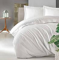 Постільна білизна 200х220 Cotton Box сатин Elegant Beyaz