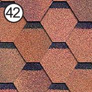 Битумная черепица Roofshield / Руфшилд Стандарт №42 Красно-коричневый