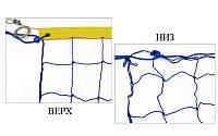 Сетка для волейбола узловая с тросом Премиум (р-р 9x0,9м, ячейка 12см) SO-5268