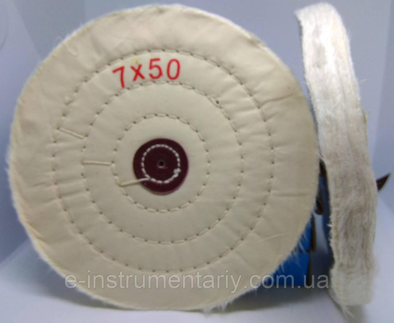 Круг полировальный муслиновый 175х10х6 белый