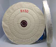 Круг полірувальний муслиновый 200х10х6 білий
