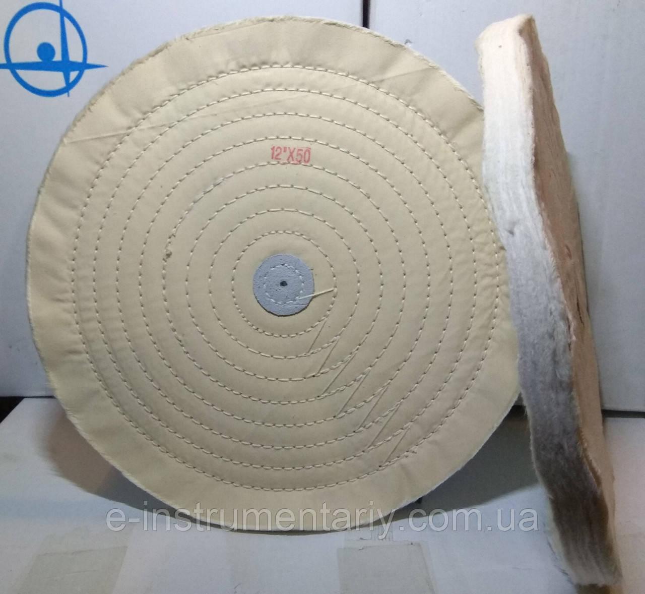 Круг полировальный муслиновый 300х10х6 белый