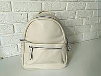 """Вместительный женский кожаный рюкзак """" Агрус 2 Beige"""", фото 1"""