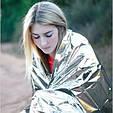 Спасательное термо одеяло пакет покрывало из фольги, фото 3