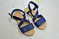 Donna Italia кожаные сандалии синие