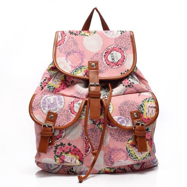 Рюкзак женский городской Хиппи Paris Rose (Розовый)