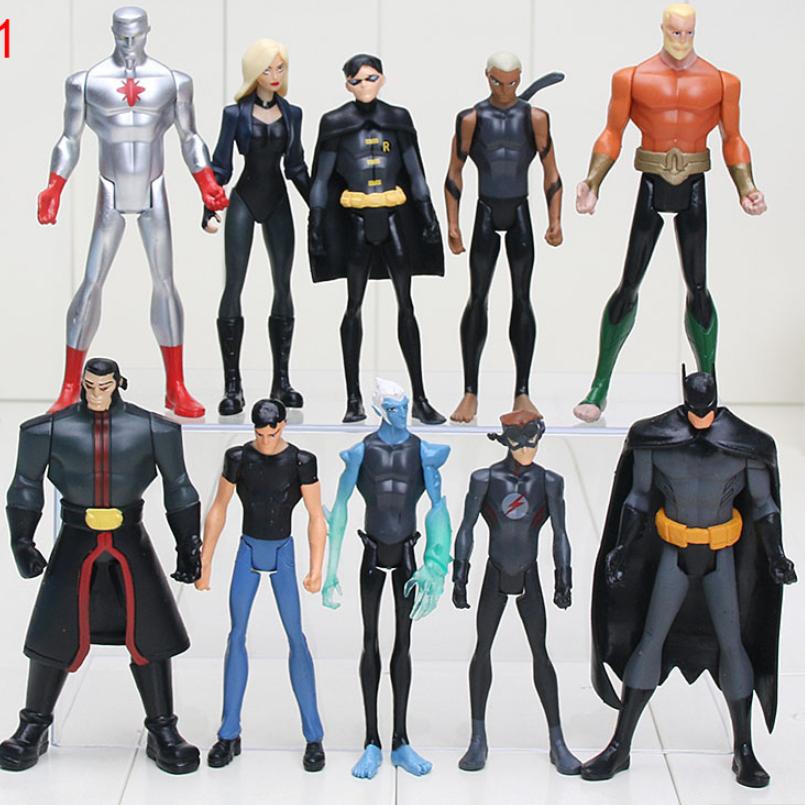 Набор Марвел Супергерои 6 шт. Мстители Бетмен Аквамен Капитан Атом