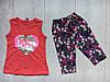 """Літній дитячий костюм для дівчинки 2-5 років,""""Серце Paris"""",червоного кольору"""