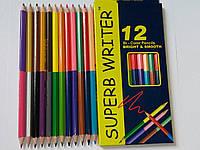 Карандаши цветные MARKO Bi-Color (12 шт - 24 цвета)
