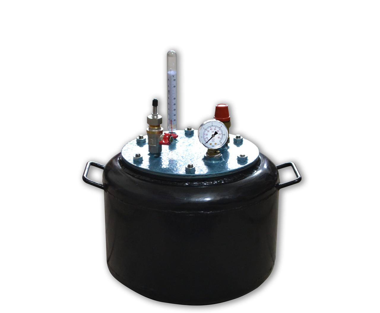 Автоклав маленький бытовой Утех8 (черная сталь 2.5 мм / 8 банок 0,5)
