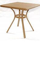 Столик для кафе плетеный садовый