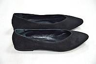 Балетки замшевые черного цвета Kore Италия, фото 1