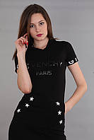 Платье с капюшоном с коротким рукавом (реплика) Givenchy черного цвета