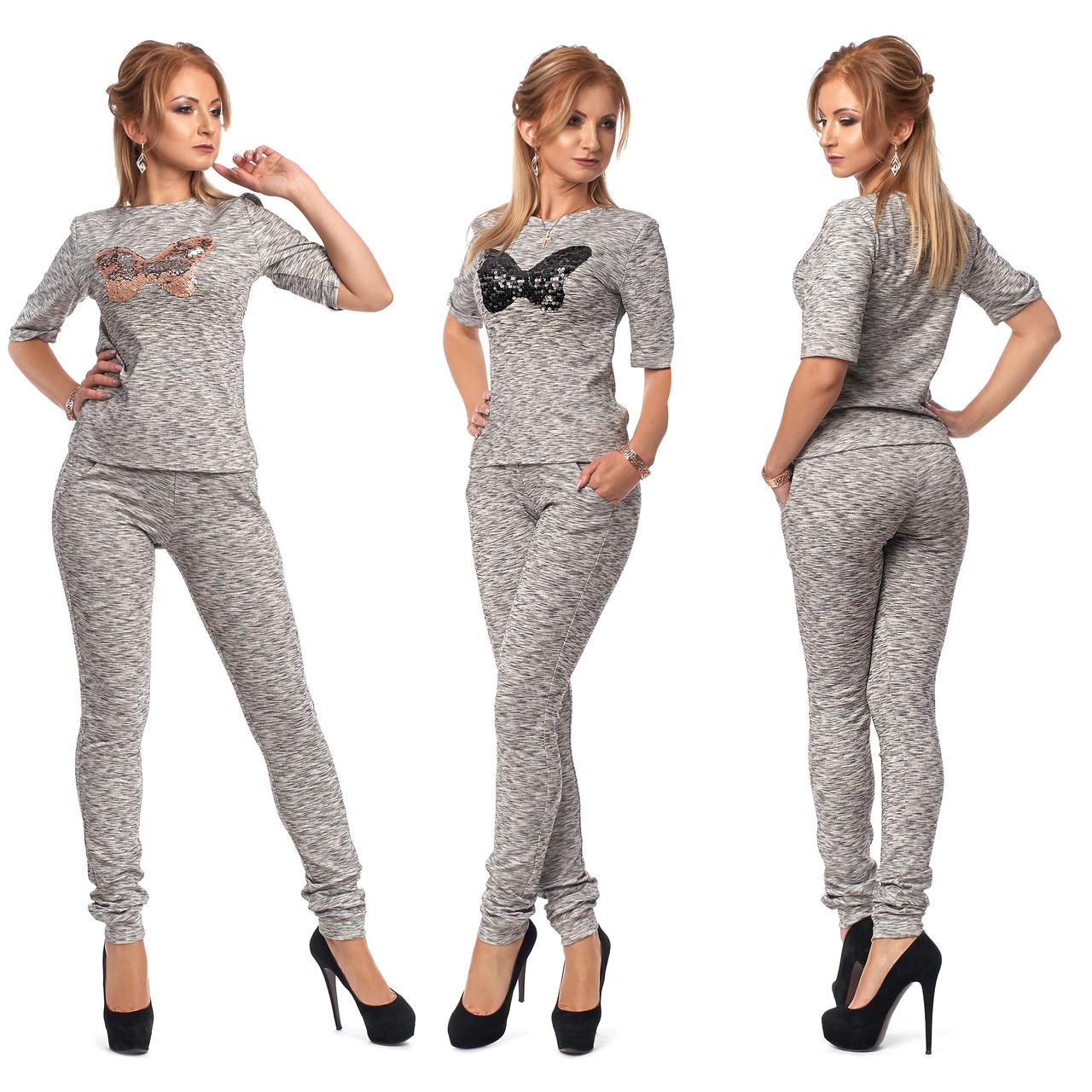 Купить Элегантный женский спортивный костюм с бабочкой из пайеток по ... c35b5d54d95