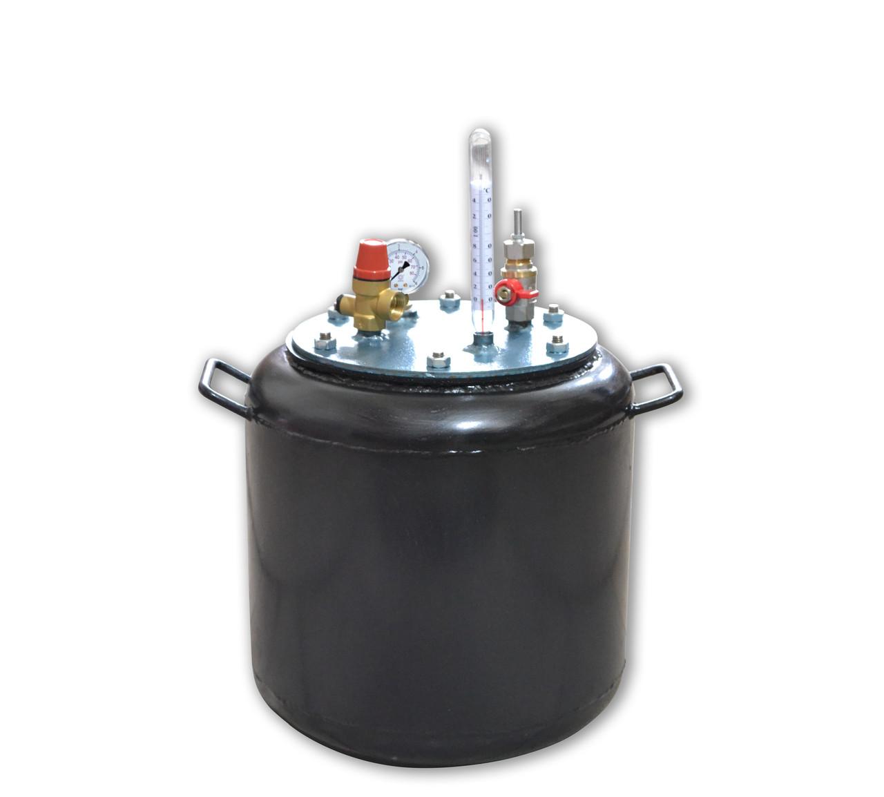 Автоклав бытовой газовый Утех16 (черная сталь 2.5 мм / 16 банок 0,5)