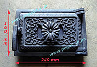Дверца чугунная печная с регулировкой поддува воздуха (160х240) мангал, барбекю, печи, фото 1