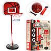 Баскетбольное кольцо M 2995  на стойке (105см-139см), щит, сетка, мяч, насос, в кор,30,5-36-10см