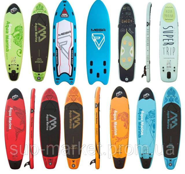 sup boards Aqua Marina breeze, mega monster, fusion,vapor, super trip