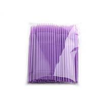 Микробраши для ресниц и бровей (Пакет 100шт.) Фиолетовый 1,5 мм.