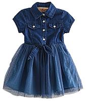 Стильное платье для девочки с фатиновой юбкой