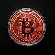 Сувенирная монета Bitcoin bronze, фото 3