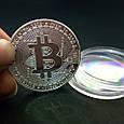 Сувенирная монета Bitcoin silver, фото 3
