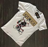Футболка Gucci   черная и белая Заяц  ( реплика А класса )