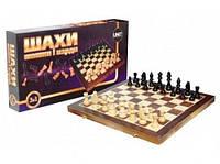 Шахматы 21202-US 3 в 1 деревянные19*39см
