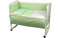 Постельный комплект в детскую кроватку сатин (бортик, пододеяльник, наволочка, простынь) ТМ Руно 977ЛУ