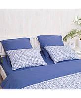 """Комплект постельного белья евро """"Royal blue"""" (поплин)"""
